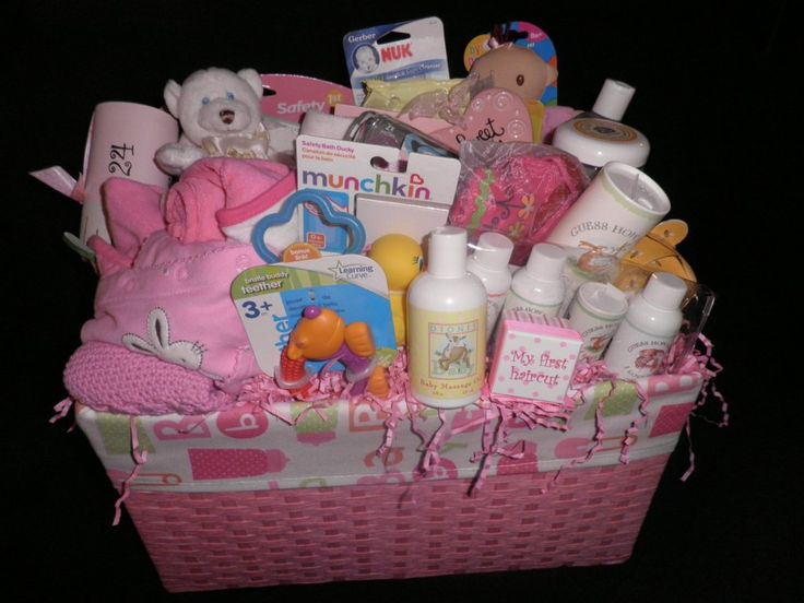Baby Girl Gift Ideas: Homemade Baby Shower Gift Baskets Ideas - Baby Wall