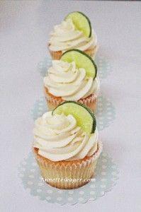 Lime cupcakes med vanilje frosting