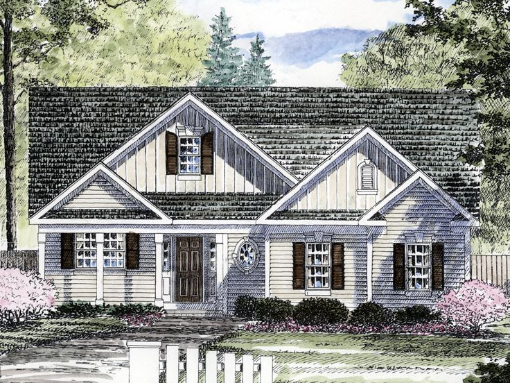 014h 0069 Empty Nester House Plan Empty Nester House