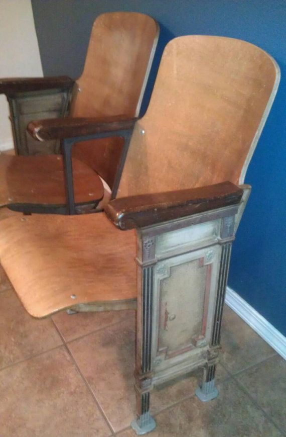 Vintage Two Wooden Movie Theater Theatre Auditorium by ABIDES