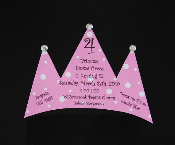 188 best images about birthday party ideas – Diy Princess Party Invitations
