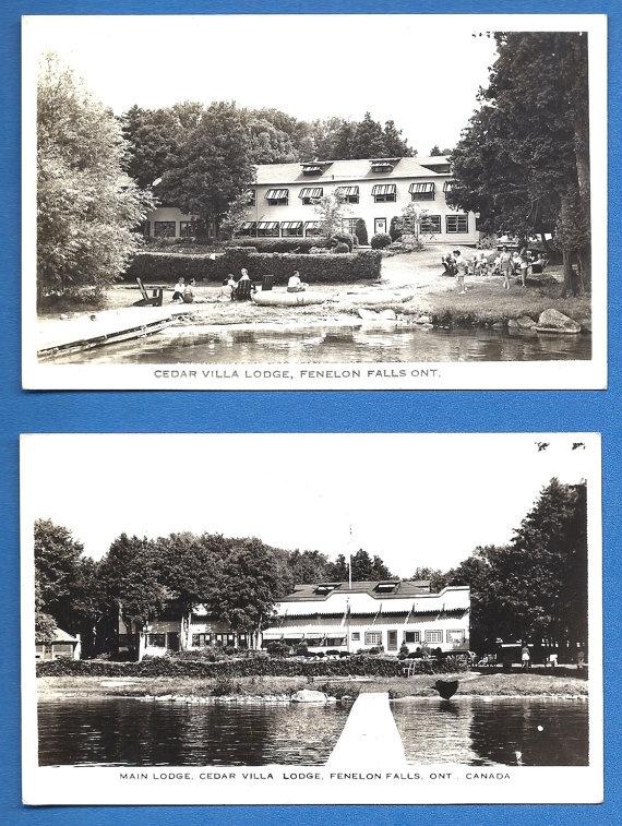 2 RPPC Cedar Villa Lodge FENELON FALLS Ontario Canada by MagpieSue, $5.99
