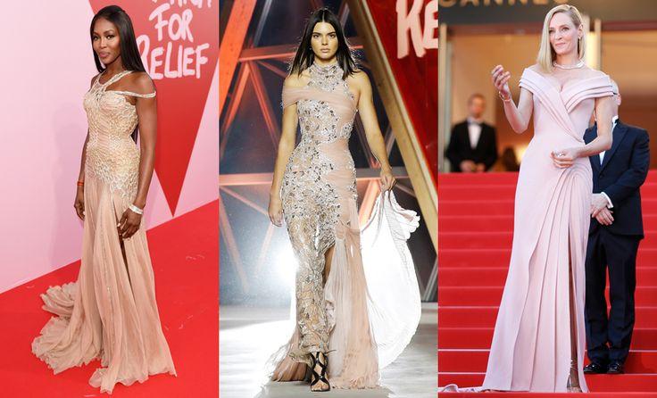 Наоми Кэмпбелл, Кендалл Дженнер и Ума Турман в Atelier Versace в Каннах