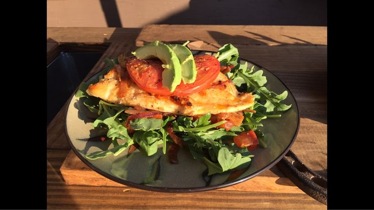 [homemade] Lightly smoked fresh Atlantic cod on a warm/cold salad topped with homegrown tomato and avocado. Yes I caught the cod.