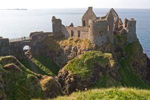 Dunluce Castle – Like something out of a Tolkien fantasy, the ruins of Dunluce Castle have a desolate, awe-inspiring grandeur.