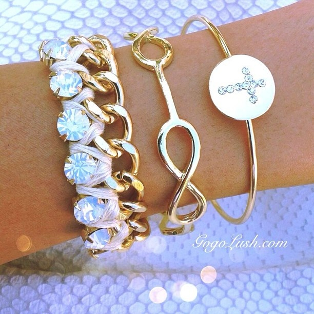 Accessories. Infinity. Gold.