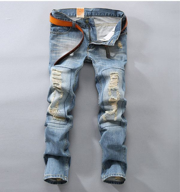 Men Upscale Cotton European And American Style Jeans