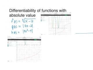 Differentiability with Functions and Absolute Valu