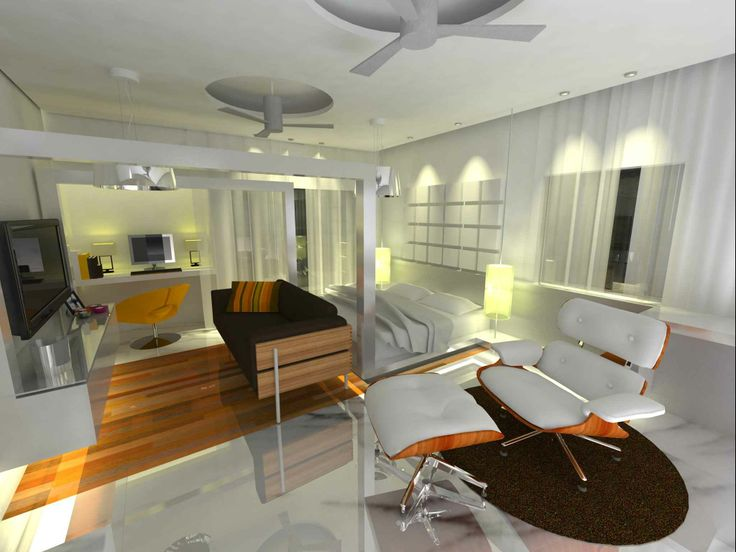 White bedroom with couch design by mayukh mitra architect for Bedroom designs kolkata