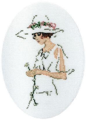 cross stitch(lady in white 2)