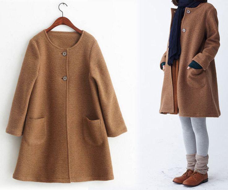 249---Women's Winter Boiled Wool A-line Coat, Camel Trapeze Coat, Gray Full Length Coat, Made to Order. by EDOA on Etsy https://www.etsy.com/listing/211957656/249-womens-winter-boiled-wool-a-line