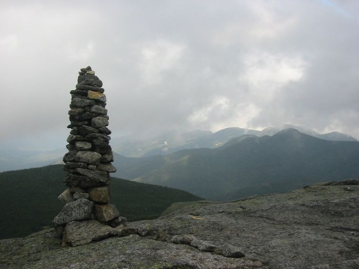 Stacked stones on a High Peak