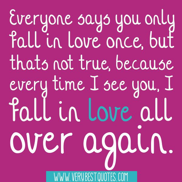 cute quotes for lovers   in love all over again – Cute Love Quotes - Inspirational Quotes ...