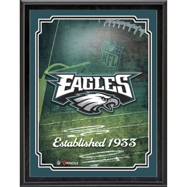 """Philadelphia Eagles Fanatics Authentic 10.5"""" x 13"""" Sublimated Team Logo Plaque"""