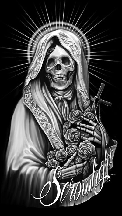 m s de 25 ideas incre bles sobre santa muerte en pinterest arte sobre la muerte parca y. Black Bedroom Furniture Sets. Home Design Ideas