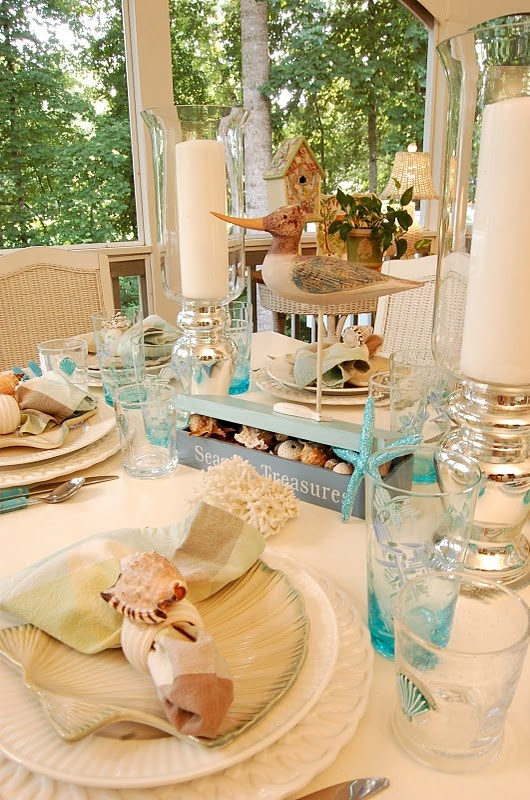 dining room table set up