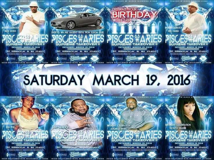 All my Pisces Aries and Party People...come out and celebrate with us. This Saturday March 19th 2016 @ The French Quarter Creole Bar and Grill. Birthday celebrations for BDK Heads King Charles and Black Exodus. Music By DJ Sidekick and DJ YNot. Raffle for a Free Luxury Car Rental (Maserati)  by Kustom Kruze. Drink Specials and Excellent Food Dishes. We will also have a cigar lounge for you connoisseurs.  The Ultimate Grown and Sexy Crowd. Tickets Tables Bottle Service here…