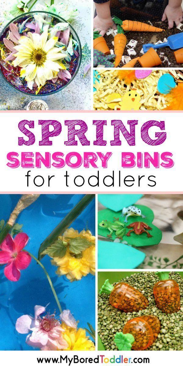 Spring Sensory Bins for Toddlers pinterest