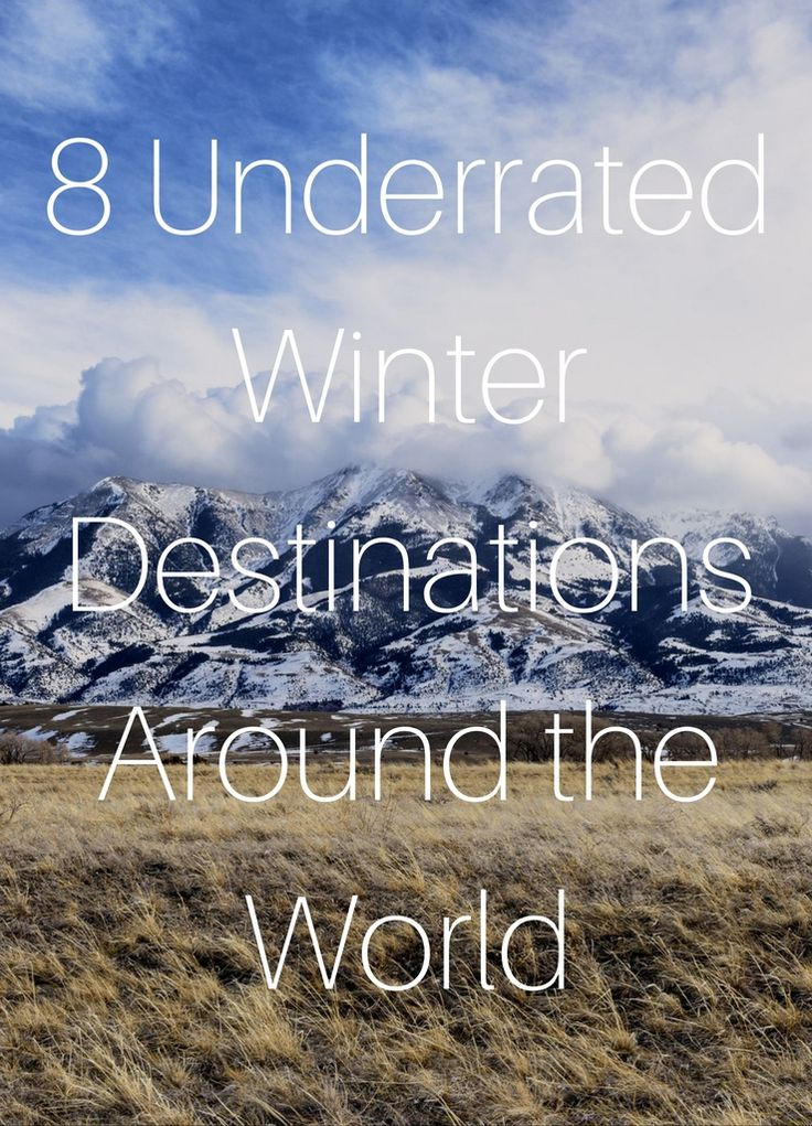 Less-traveled destinations that offer equal charms and winter wonderland appeal—minus the crowds. #Winter