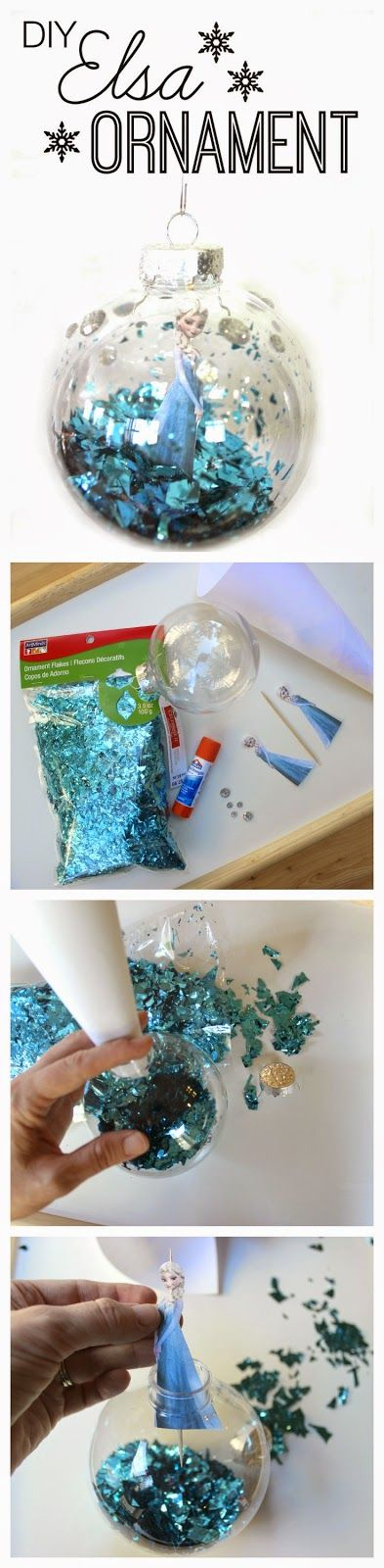 DIY Elsa Christmas Ornament from Frozen