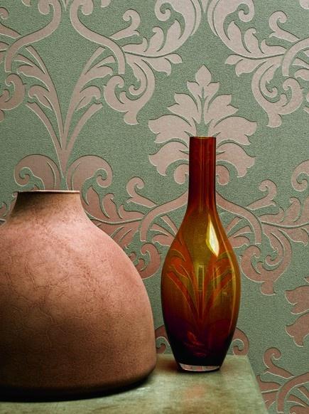 Feel good ornamenten - BN Wallcoverings #behang #koper #copper-orange wallpaper