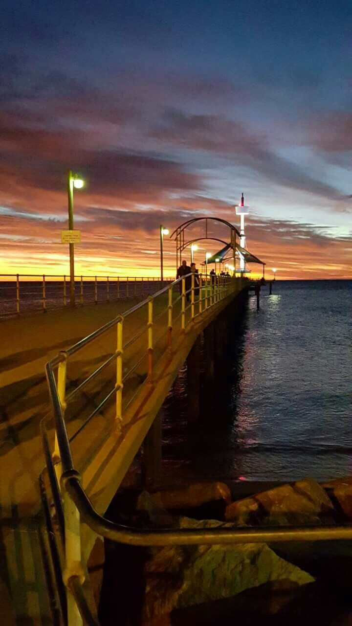 Brighton beach sunset SA