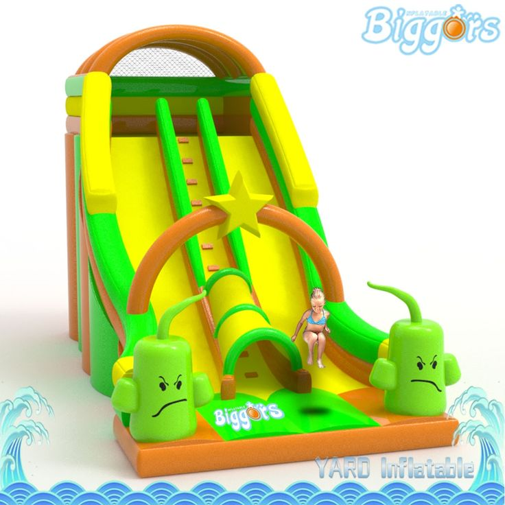 2699.00$  Buy now - http://ali3so.worldwells.pw/go.php?t=32775547044 - Inflatable Biggors Cartoon Large Outdoor Inflatable Slide PVC Commercial Bounce House