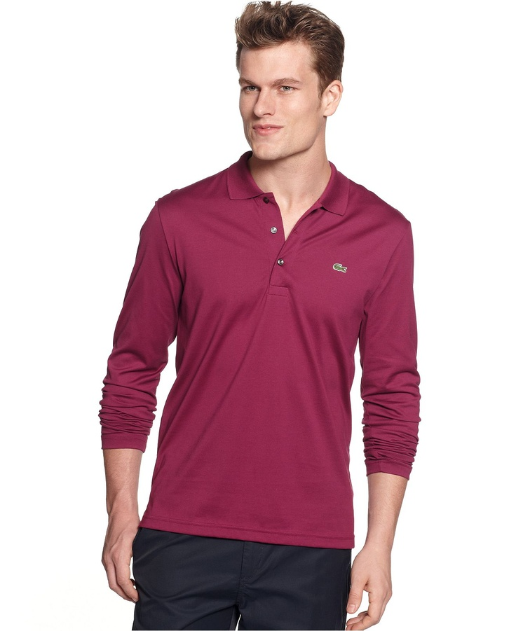 17 best images about clothes macy polo on pinterest for Men s lightweight long sleeve polo shirts