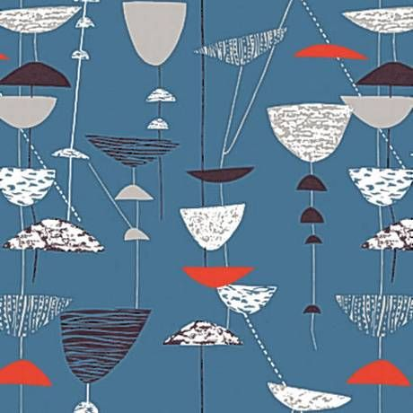 Lucienne Day's Calyx fabric from Independent Newspaper.  I really like the way Lucienne Day created little abstract marks to infill her designs. Adds more interest and a look of texture to her work.