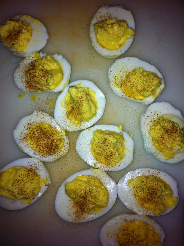 Weight Watchers deviled eggs
