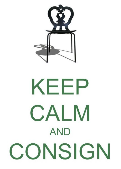keep calm and consign at home again design - Home Again Design