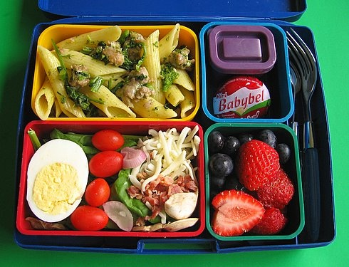 Laptop Lunchbox. Bento-style offers a variety of colours, flavours, and textures.  Had ours for over 6 years and still going strong!!!