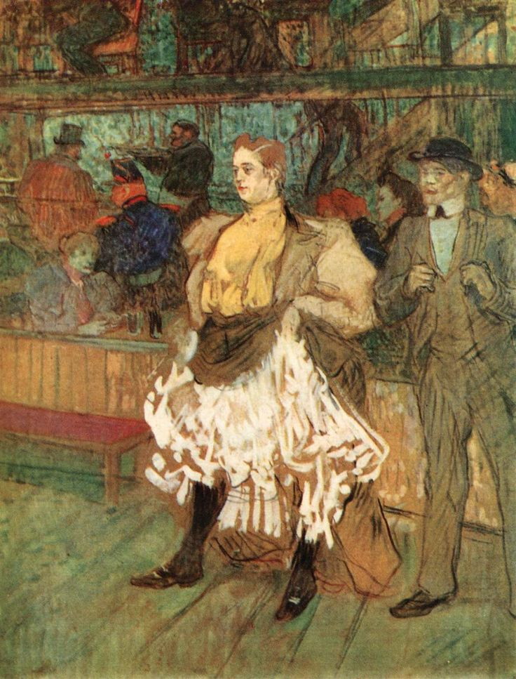 Henri de Toulouse-Lautrec, At the Moulin Rouge, 1892, Oil on cardboard, private collection