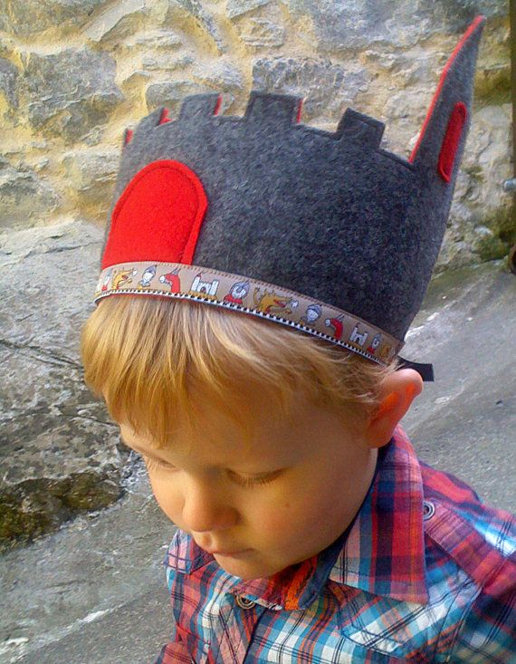 Medieval Castle/Knight Crown for Boys  Waldorf by leilalou on Etsy