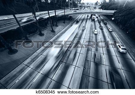 autoroute, trafic Voir Image Grand Format