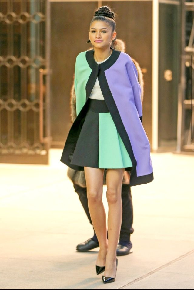 2 Zendaya 39 S New York Fashion Week Fausto Puglisi Purple