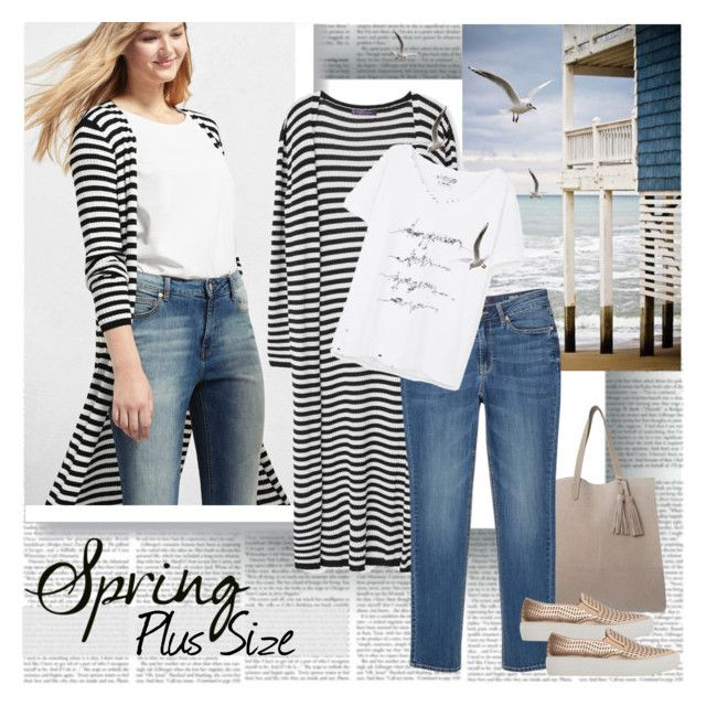 Spring Plus Size by stylepersonal on Polyvore featuring polyvore, fashion, style, Violeta by Mango, MANGO, clothing and springdate