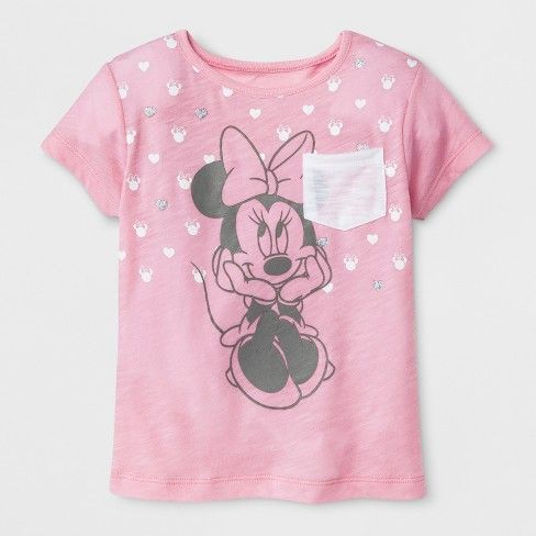 67024c8f1c63 Toddler Girls  Disney Mickey Mouse   Friends Minnie Mouse Short Sleeve  T-Shirt - Light Pink   Target