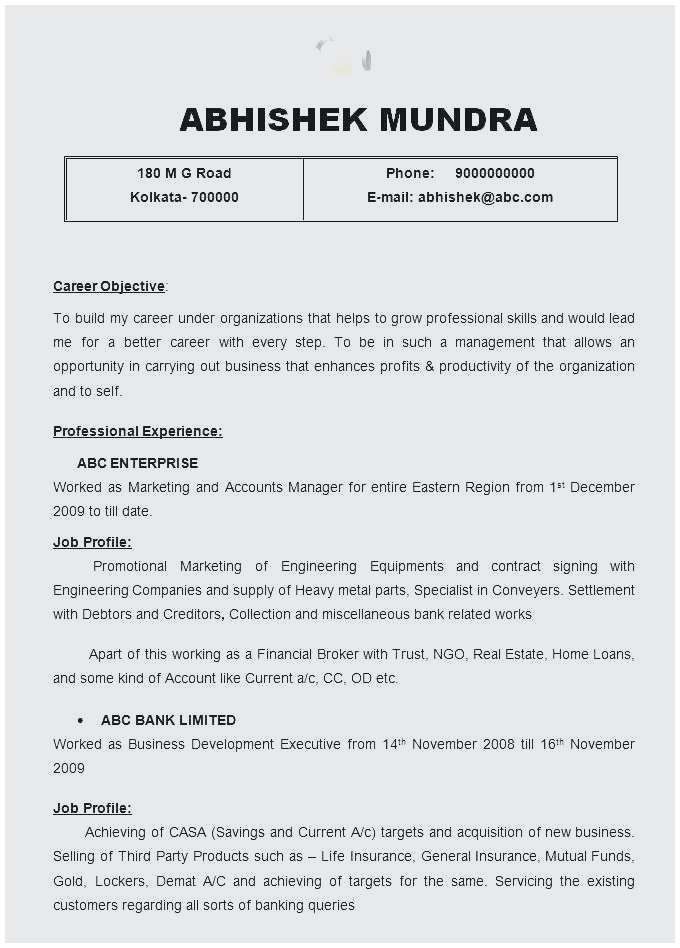 30 Perfect Summary For Resume Cover Letter Templates
