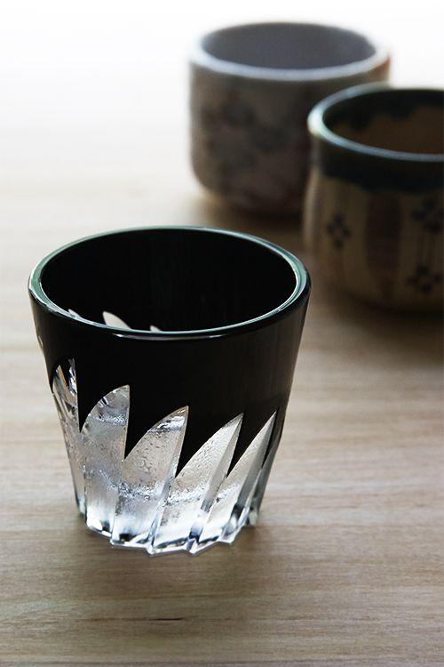 Summer Sake season. Horiguchi Kiriko glass from Japan Suite. #Sake # ...