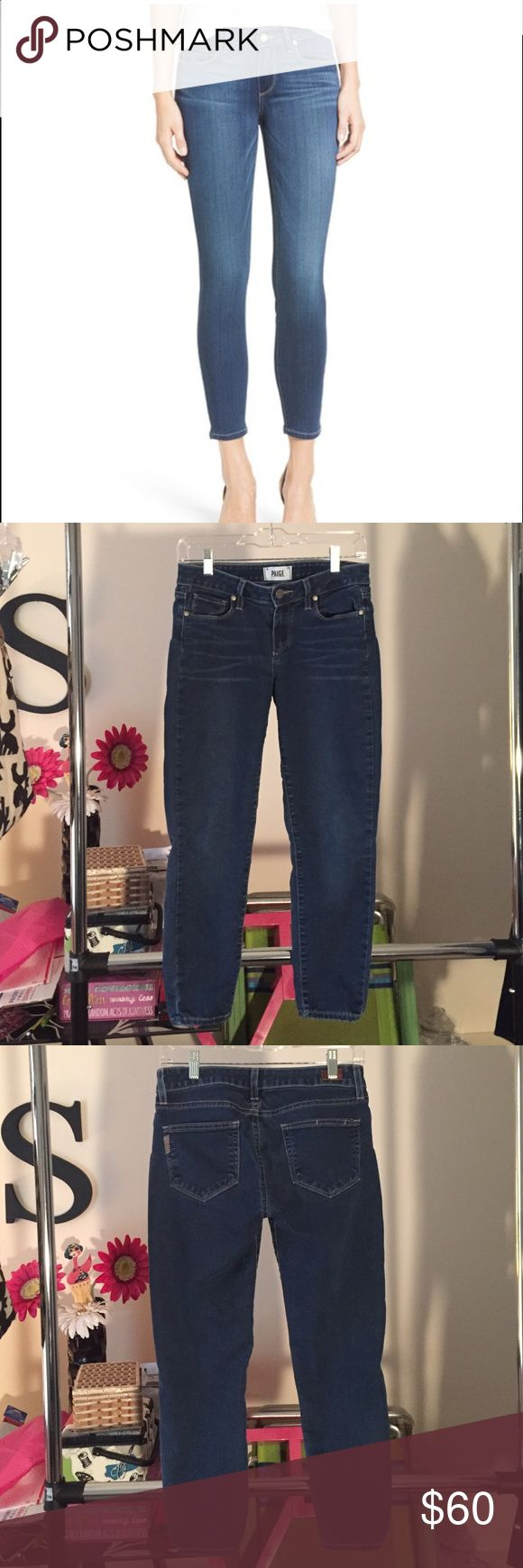 """🔥new listing🔥 Paige verdugo crop skinny jeans Super comfy paige verdugo crop denim! These jeans do have stretch to naturally form around your body. Inseam- 24"""" waist- 14.25"""" Paige Jeans Jeans Ankle & Cropped"""