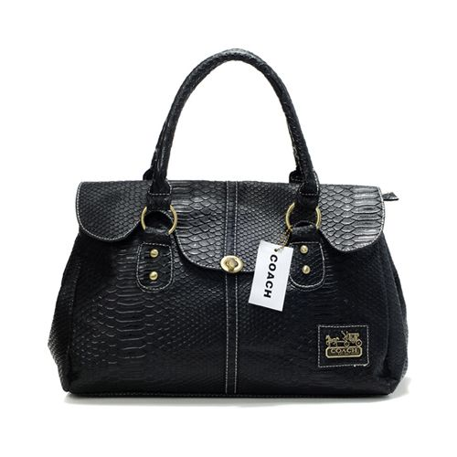 #CheapCoach #Coach #CoachBags #BlackCoach Coach Embossed Lock Medium Black Satchels DDZ in Designer Made