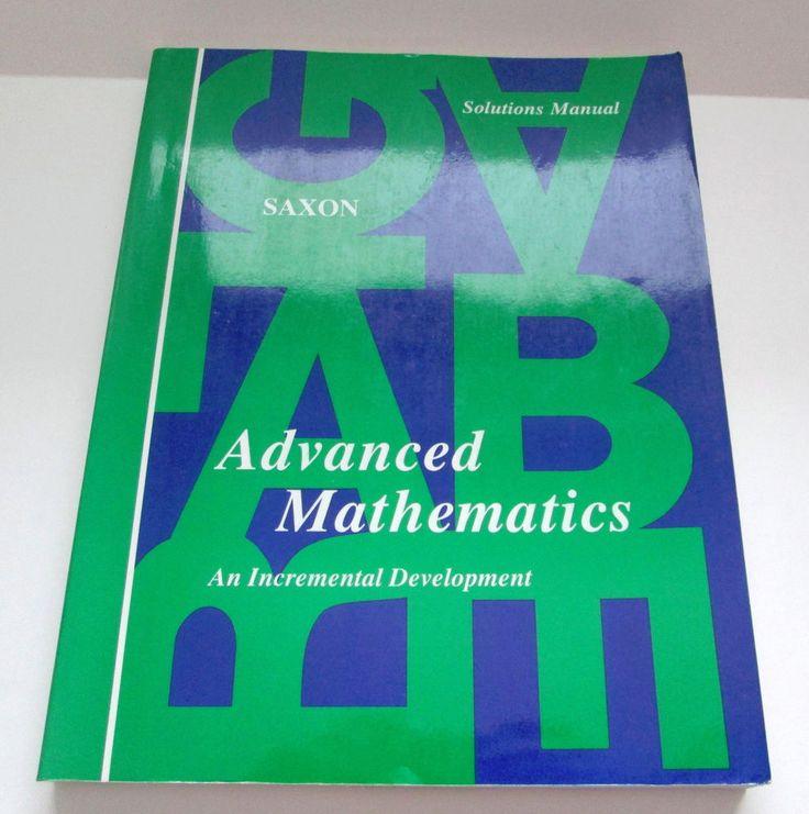 Saxon Advanced Mathematics 1990 Solutions Manual Softcover Homeschool #Textbook