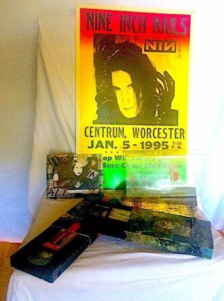 NIN 1st printing Closure Box Set VHS & 1995 Tour Poster- curated by Lexa Vonn