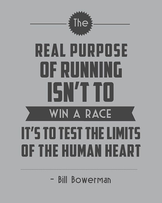 Retro Inspirational Running Quote Test the by StephLawsonDesign... I WANT THIS ON MY WALL!!!! NOW!!!