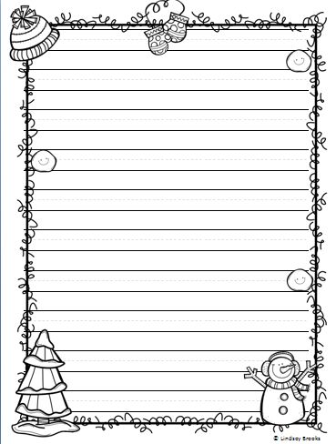 All the #writing paper styles you need for holiday and seasonal writing through December, January, and February! 40 printable pages. #winter