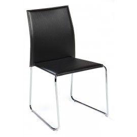 Designstoel - Vario - Chroom en leder - Dan-Form De designstoel Vario van Dan-Form is een sierlijke en comfortabele stoel voor aan uw eetkamer tafel. De Vario is gestoffeerd in het leder. En  is verkrijgbaar in drie kleuren. Zwart, oranje en beige. Het onderstel is van chroom.