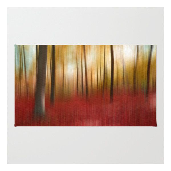 Autumn Forest Rug ($28) ❤ liked on Polyvore featuring home, rugs, chevron area rug, machine wash rugs, machine washable area rugs, machine washable rugs and forest rug