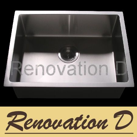 Cube Square Single 540 Sink with Round Corner