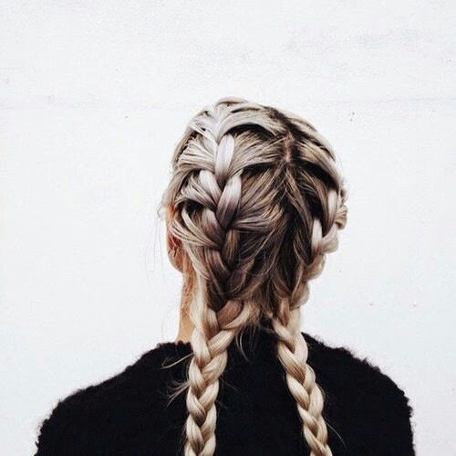 Workout 'do - Double french plaits